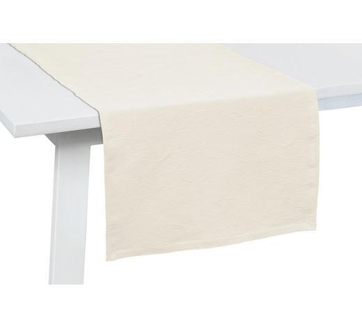 TISCHLÄUFER Textil Jacquard Weiß 50/150 cm  - Weiß, KONVENTIONELL, Textil (50/150cm)