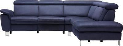 WOHNLANDSCHAFT - Beige/Alufarben, Design, Textil/Metall (271/242cm) - Cantus
