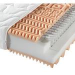 TASCHENFEDERKERNMATRATZE 160/200 cm  - Weiß, Basics, Textil (160/200cm) - Sleeptex