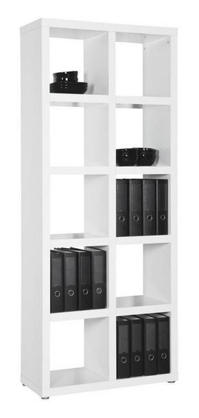 HYLLA - vit/alufärgad, Design, trä/träbaserade material (84/203/35cm) - Carryhome
