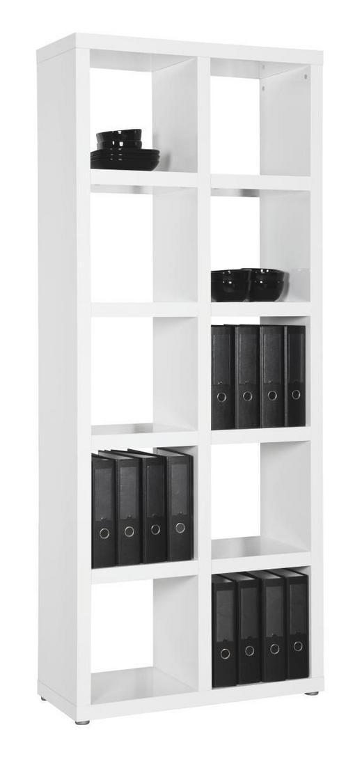 REGAL Weiß - Alufarben/Weiß, Design, Holz/Holzwerkstoff (84/203/35cm) - Xora