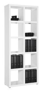 REGÁL - bílá/barvy hliníku, Design, dřevo/kompozitní dřevo (84/203/35cm) - Carryhome