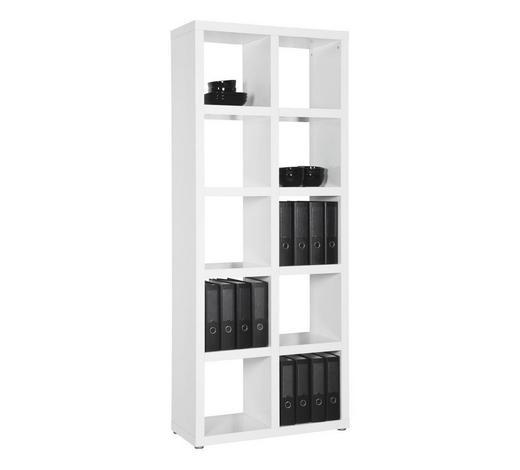REGÁL, bílá - bílá/barvy hliníku, Design, dřevo/kompozitní dřevo (84/203/35cm) - Carryhome