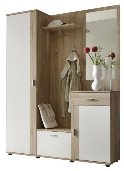 PREDSOBLJE - bijela/hrast Sonoma, Design, drvni materijal (145/188/30cm) - BOXXX