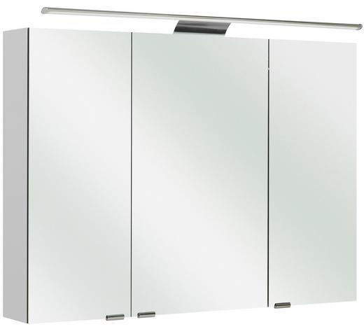 SPIEGELSCHRANK Weiß  - Weiß, Basics, Glas/Holzwerkstoff (100/70/16cm) - Sadena