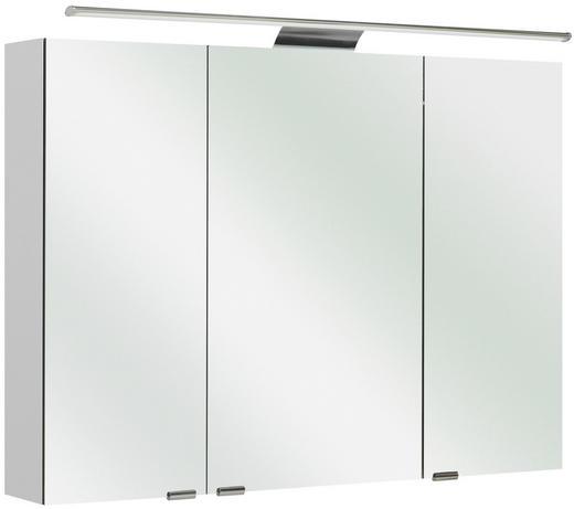 SPIEGELSCHRANK Weiß - Weiß, Design, Glas/Holzwerkstoff (100/70/16cm) - Sadena
