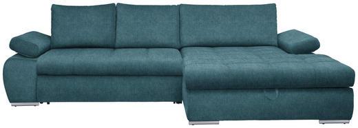 WOHNLANDSCHAFT in Textil Blau - Chromfarben/Blau, Design, Kunststoff/Textil (294/173cm) - Carryhome