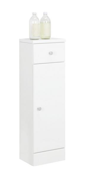 UNDERSKÅP - vit/kromfärg, Klassisk, träbaserade material (25/82/20cm) - Xora