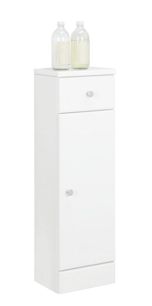 UNTERSCHRANK - Chromfarben/Weiß, KONVENTIONELL, Holzwerkstoff (25/82/20cm) - Xora