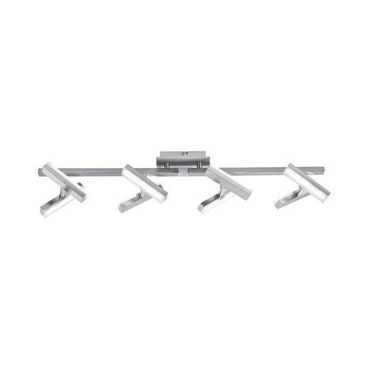 LED-DECKENLEUCHTE - Nickelfarben, Design, Metall (70/12/17cm) - Boxxx