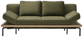 SCHLAFSOFA in Textil Grün  - Schwarz/Grün, MODERN, Textil/Metall (214/89/103cm) - Dieter Knoll
