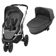 Kinderwagenset Mura 3 Plus  Grau - Silberfarben/Grau, Basics, Textil/Metall (95/106/65cm) - MAXI COSI