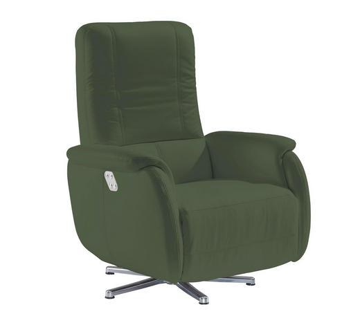 RELAXSESSEL Echtleder    - Chromfarben/Mintgrün, Design, Leder/Metall (80/109/88cm) - Beldomo Premium