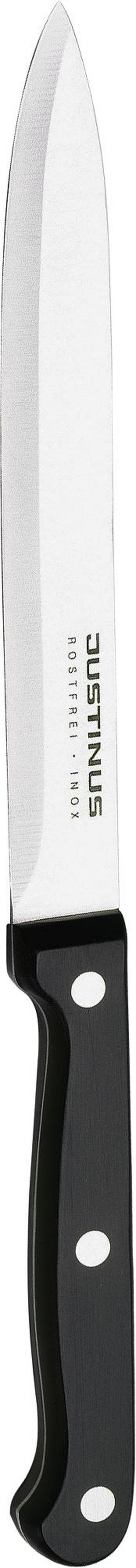 SCHINKENMESSER  15 cm - Schwarz, Basics, Kunststoff/Metall (25cm) - Justinus