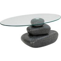 COUCHTISCH Oval Schwarz   Schwarz, Design, Glas/Kunststoff (110/65/ ...