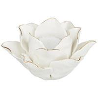 DRŽÁK NA ČAJOVOU SVÍČKU - bílá, Basics, keramika (12/7cm) - Ambia Home