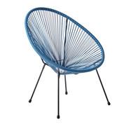 GARTENSESSEL Stahl Blau, Schwarz - Blau/Schwarz, Design, Kunststoff/Metall (72/88/77cm) - Ambia Garden