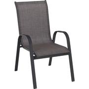STAPELSESSEL Aluminium, Stahl Anthrazit, Hellbraun - Hellbraun/Anthrazit, Design, Textil/Metall (55/96/72cm) - XORA