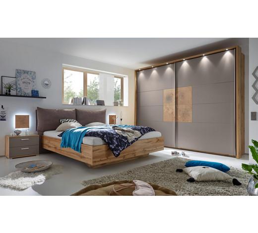 schlafzimmer in eichefarben grau eichefarbengrau design holzwerkstofftextil - Schlafzimmer
