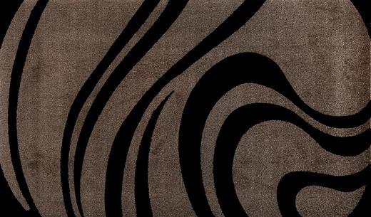 FUßMATTE 70/120 cm Graphik Beige, Schwarz - Beige/Schwarz, Basics, Kunststoff/Textil (70/120cm) - Esposa