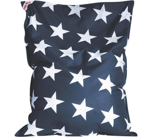 SITZSACK in Textil Blau, Weiß - Blau/Weiß, Design, Textil (130/170/20cm)