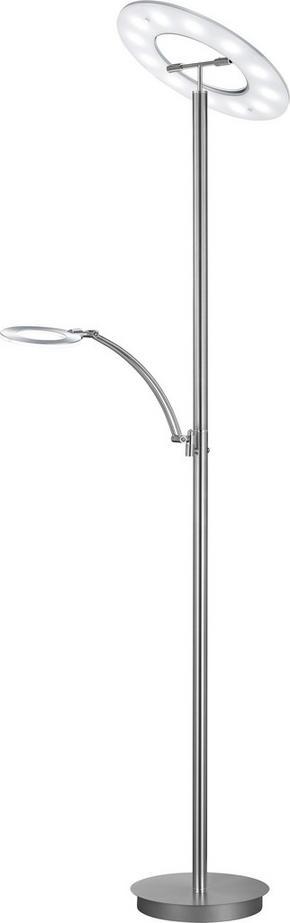 LED-GOLVLAMPA - kromfärg/nickelfärgad, Design, metall (185cm) - Ambiente