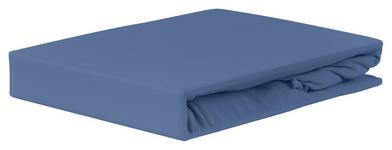 Spannleintuch Jardena 160x200 cm - Blau, KONVENTIONELL, Textil (160/200cm) - Ombra