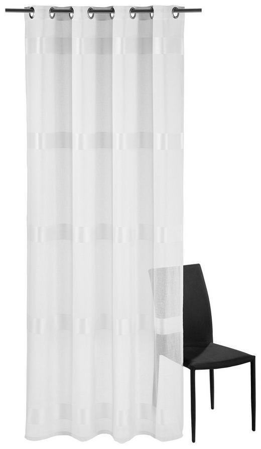 ÖSENSCHAL  halbtransparent   140/245 cm - Weiß, Basics, Textil (140/245cm) - Esposa