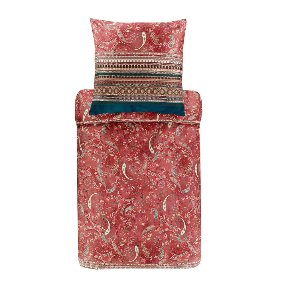 Bassetti Bettwäsche rot , 9306332 Burano R2 , Textil , Ornament , 135x200 cm , pflegeleicht, bügelleicht , 005639034003
