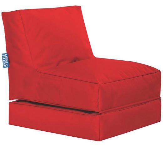 SITZSACK in Textil Rot - Rot, Design, Textil (70/80/90cm)