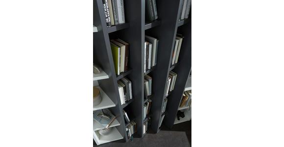 WOHNWAND in Anthrazit, Eichefarben, Weiß - Eichefarben/Anthrazit, Design, Holz/Holzwerkstoff (341/215/47cm) - Dieter Knoll