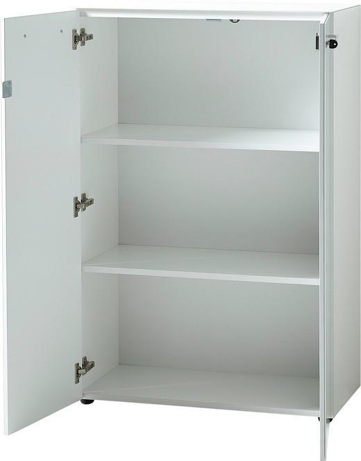 AKTENSCHRANK Weiß - Weiß, MODERN, Glas/Holzwerkstoff (80/120/37cm)