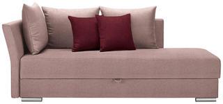 LIEGE in Textil Rosa, Dunkelrot  - Chromfarben/Rosa, Design, Kunststoff/Textil (220/93/100cm) - Xora