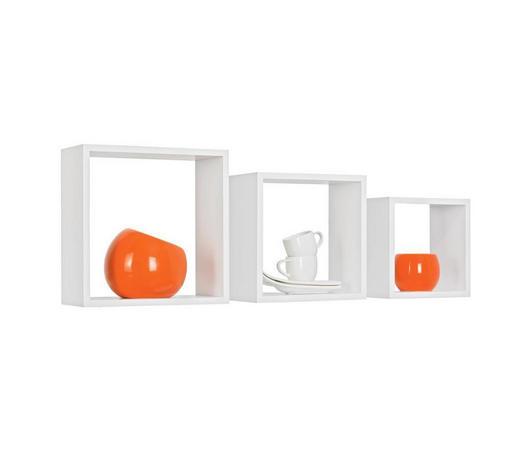 SADA NÁSTĚNNÝCH REGÁLŮ, bílá,  - bílá, Design, kompozitní dřevo (28/24/20/28/24/20/12cm) - Boxxx