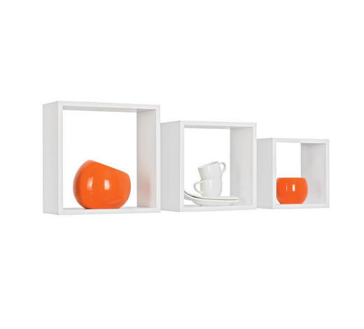 WANDREGALSET - Weiß, Design, Holzwerkstoff (28/24/20/28/24/20/12cm) - Boxxx