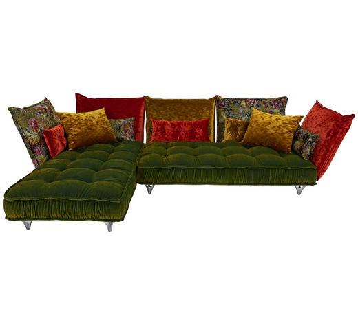 WOHNLANDSCHAFT in Textil Multicolor  - Multicolor, Trend, Textil/Metall (217/342cm) - Bretz