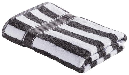 DUSCHTUCH 70/140 cm - Anthrazit/Weiß, KONVENTIONELL, Textil (70/140cm) - Esposa
