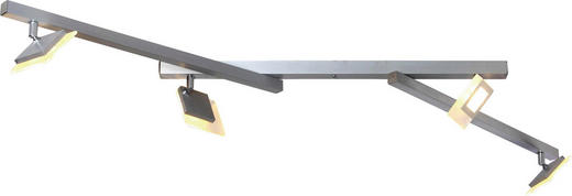 LED-DECKENLEUCHTE - Alufarben, LIFESTYLE (125/5/8cm)
