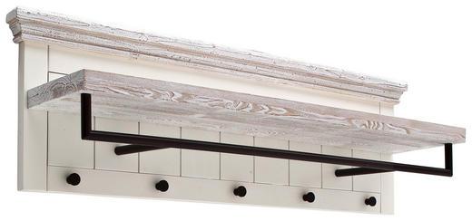 GARDEROBENPANEEL Kiefer massiv lackiert Schwarz, Weiß - Schwarz/Weiß, LIFESTYLE, Holz/Metall (124/40/30cm) - Landscape