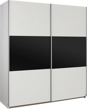 SKŘÍŇ S POSUVNÝMI DVEŘMI - bílá/tmavě šedá, Konvenční, dřevěný materiál/umělá hmota (175/197/59cm) - XORA