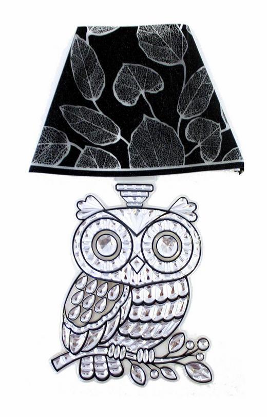 Tiere Wandsticker mit Licht - Schwarz, Basics, Kunststoff (19/30/1,5cm)
