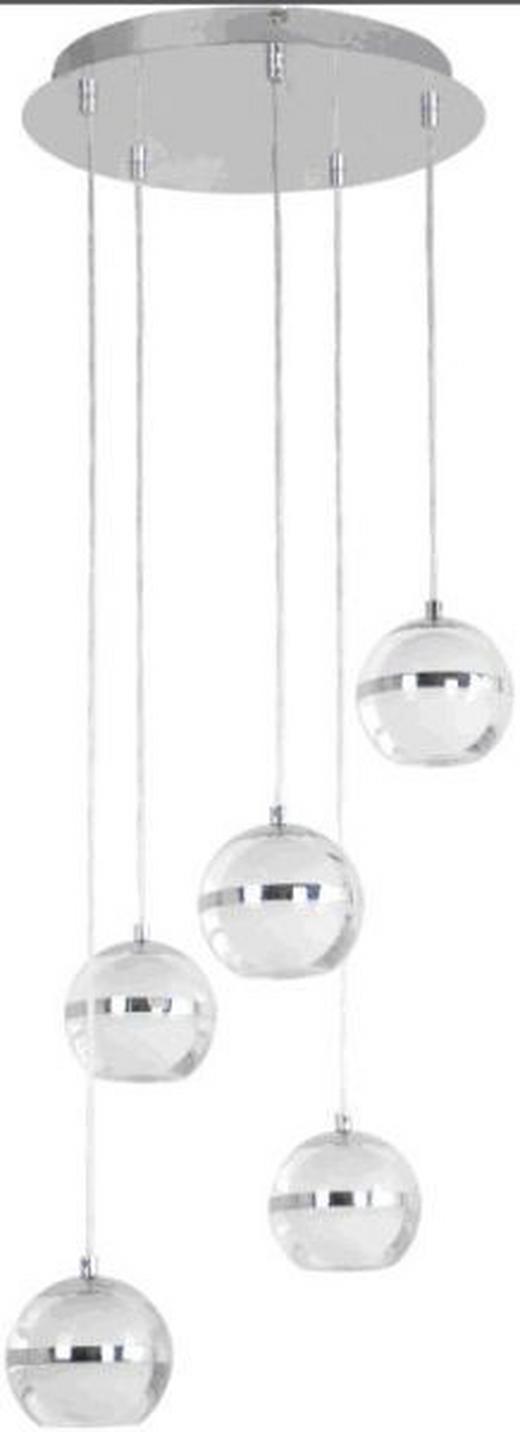 HÄNGELEUCHTE - Chromfarben, Design, Kunststoff/Metall (35/35/120cm) - Ambiente