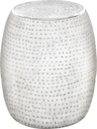 TABURE kovina aluminij, bela - aluminij/bela, Trend, kovina (39/42/39cm) - Carryhome