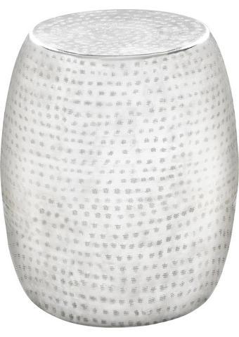 TABURE, kovina bela, aluminij  - aluminij/bela, Trend, kovina (39/42cm) - Carryhome