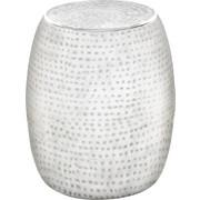 TABURET - bílá/barvy hliníku, Trend, kov (39/42/39cm) - Ambia Home