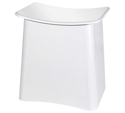 BADHOCKER - Weiß, Design, Kunststoff (46/50/33cm)