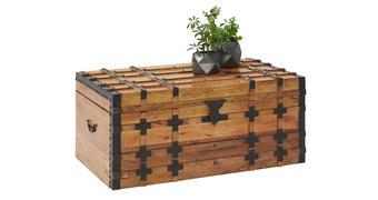 SKRINJA  les, kovina naravna, črna  - naravna/črna, Trendi, kovina/les (100/45/55cm) - Venda