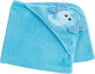 KAPUZENBADETUCH - Blau, Textil (80/80cm) - MY BABY LOU