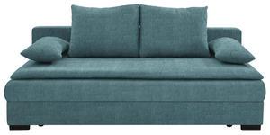 SCHLAFSOFA in Textil Blau - Blau/Schwarz, KONVENTIONELL, Kunststoff/Textil (207/74-94/90cm) - Venda