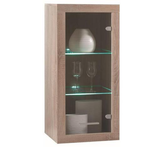 VISEĆI ELEMENT - boje hrasta/boje srebra, Design, staklo/drvni materijal (47/102/37cm) - Xora